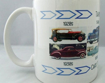 Cars Through the Decades Coffee Mug