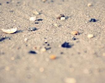 The Beach  - Fine Art Photography Print - 8x8 8x10 12x8 12x12  inch Photograph beach vintage pastel sand Hahnemuehle square