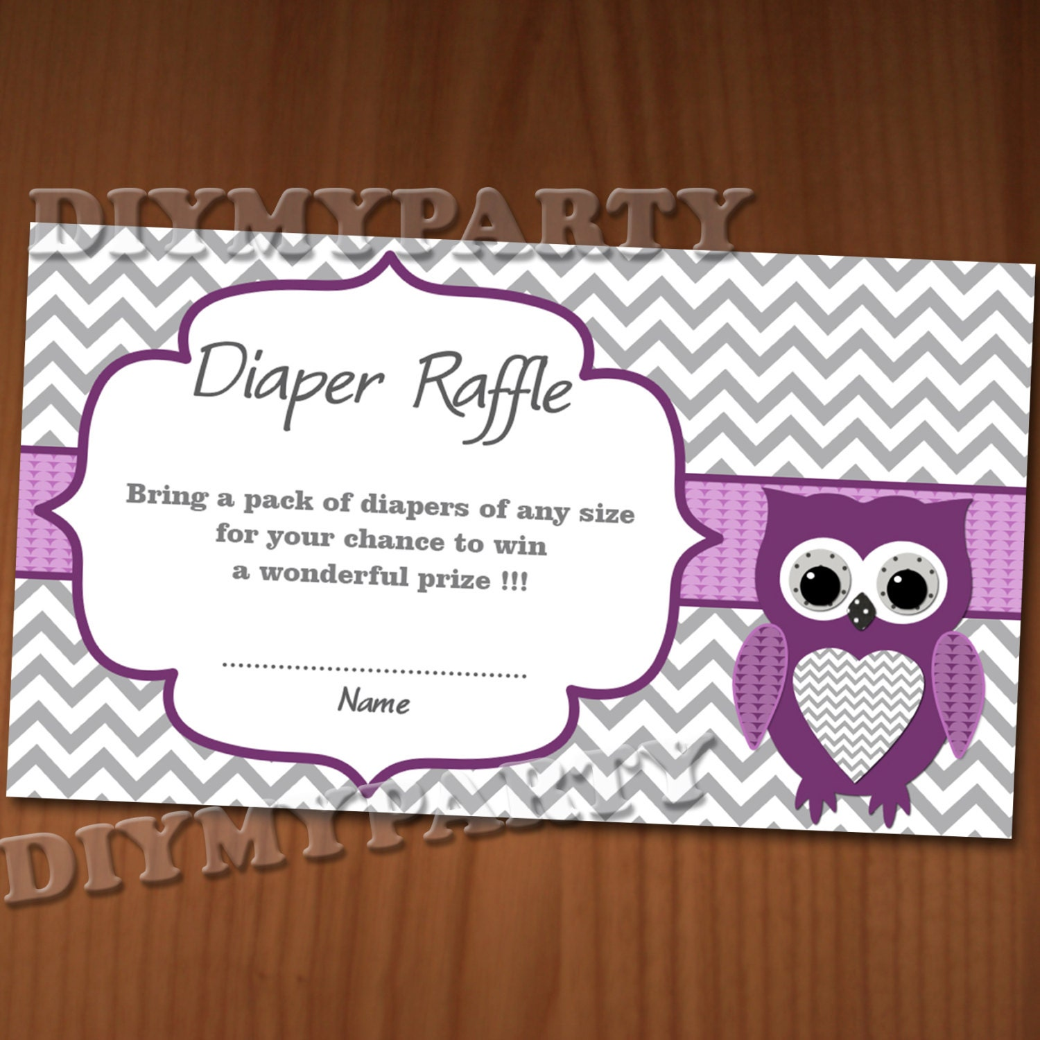 owl baby shower diaper raffle ticket diaper raffle by diymyparty