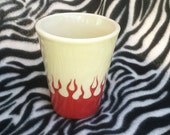 16 Ounce Tattoo Tumbler Cup Toothbrush Holder Ceramic Pottery Hand Made OHIO USA
