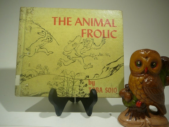 The Animal Frolic, 1954, Toba Sojo, vintage kids book, vintage japanese art