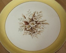 Vintage SUNGLOW Dinner PLATE Yellow Floral Plate Cunningham Pickett Inc