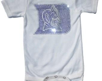 Infant / Toddler Duke Blue Devils Short or Long Sleeve Crystal bodysuit