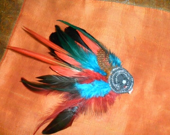 Beautiful Feather hair clip or can be used as a hat clip also