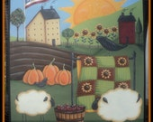 Americana Autumn primitive painting pattern Terrye French and Lorri Allisen instant download