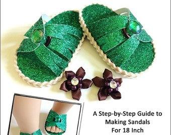 Pixie Faire Miche Designs No Sew Mayli Flip Flops 18 inch Doll Shoe Pattern for American Girl Dolls - PDF