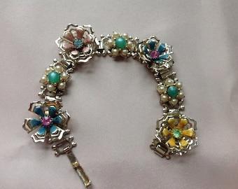 Floral Multi Stone Bracelet