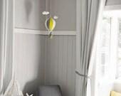 childrens room decoration, CUSTOM COLOURS, baby room decor, felt hot air balloon, woolfelt, mobile