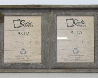 8x10 2 wide rustic barn wood double opening frame