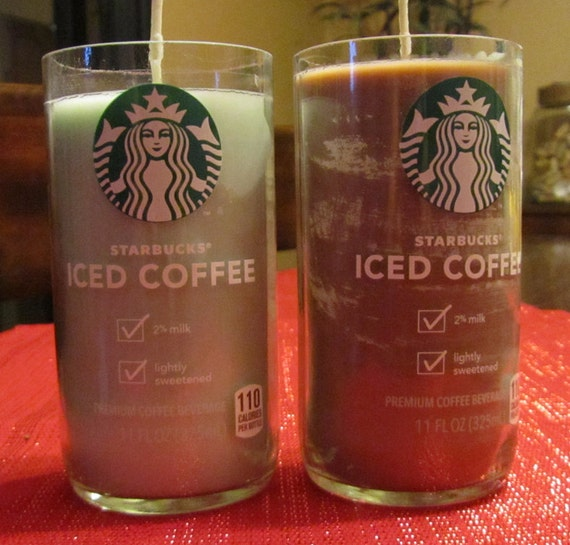 Starbucks Iced Coffee Candles - Repurposed Bottles now in GREEN OR ...