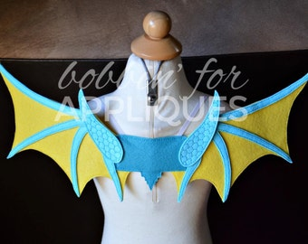 Dragon ITH embroidered wings © In the Hoop Embroidery Design