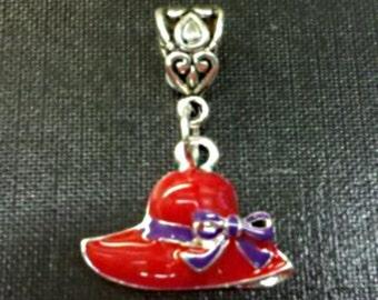 NEW Red Hat Society Slider Charm Fits Bracelet