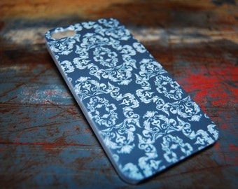 Damask for Iphone 6 (4.7) 4.7 5c 5 5s 4s 4 Back Cover Pattern Style Moroccan Print Stylish New Artistic Cases Hard Plastic Cover Black c124