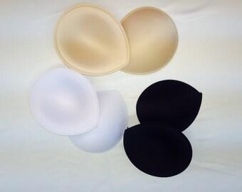bra cups tear drop shape