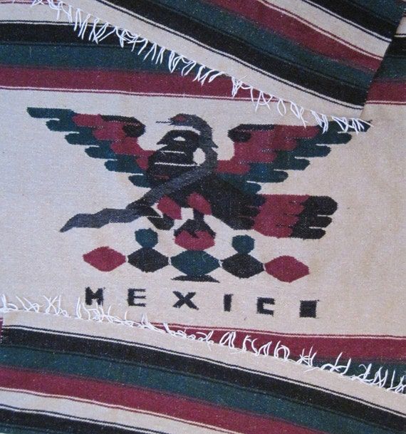 Mexican Flag Tapestry Wall Hanging Rug Big Size Mexico Eagle