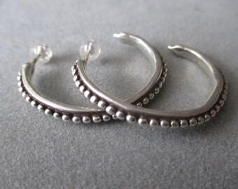 Sterling Silver Hoop Earrings #ER93SS