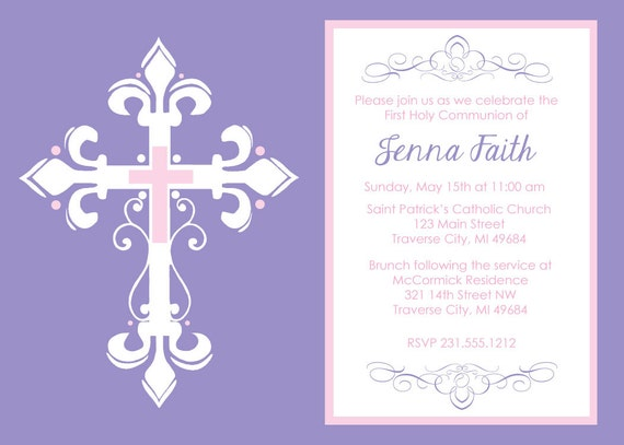 Exceptional image throughout printable first communion invites