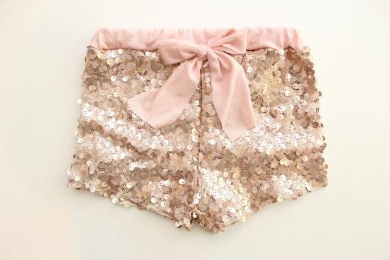 Blush Sequin Shorts