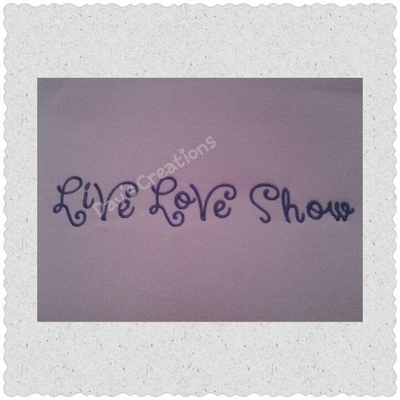 Embroidered sweatshirt - Livestock Shower sweatshirt - Live Love Show Livestock - Cow Sweatshirt - Goat shower - hog Shower - Sheep shower