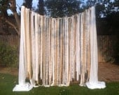 Burlap, Chiffon & Lace Fabric Strip Garland