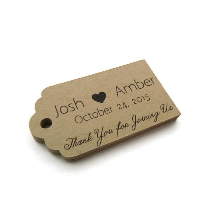 Custom Wedding Favor Tags Personalized Tag Thank You Tag