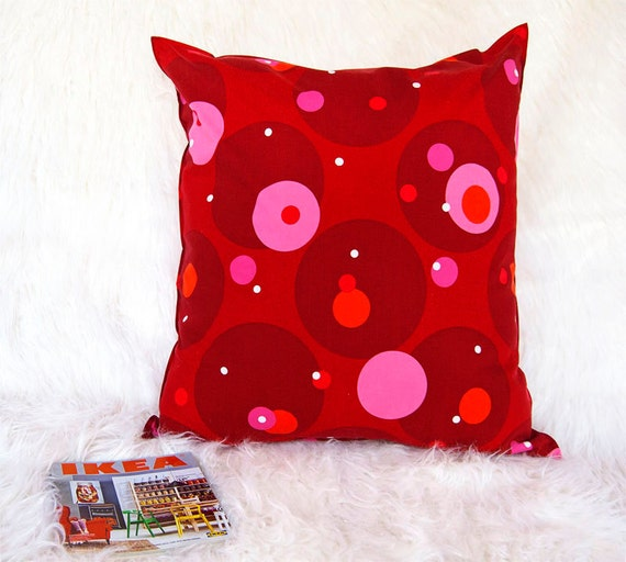 Red.pink reading pillow.dorm decor.floor pillow.Ikea