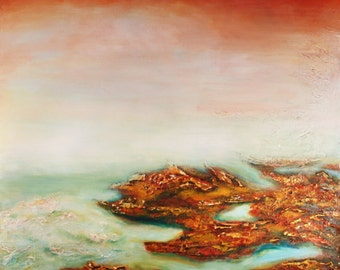 Rock Seaweed - Semi Abstract Limited Edition Abstract Painting on Canvas