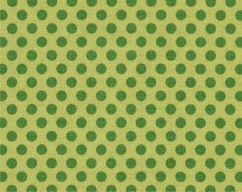 Riley Blake small dot tone on tone green- 1/2 yard