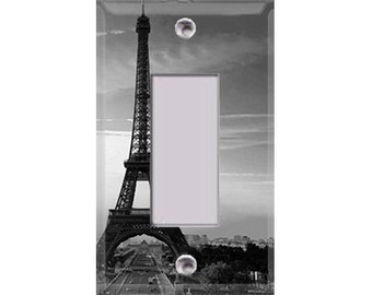 Eiffel Tower - Black and White Rocker/GFI Cover