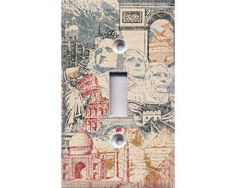 Wonders of the World Light Switch Cover