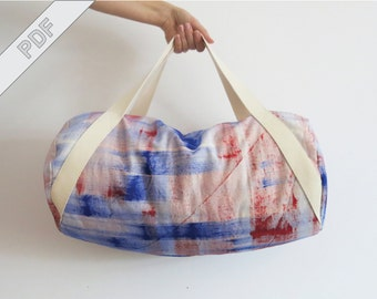 sewing tutorial with sewing pattern for a duffle (duffel) bag, PDF eBook