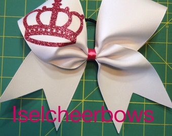 Crown (ribbon) Cheer Bow, choose your colors.