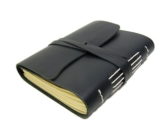 Leatherbook Beach Mocca XL - Bound diary, journal, notebook or travel diary