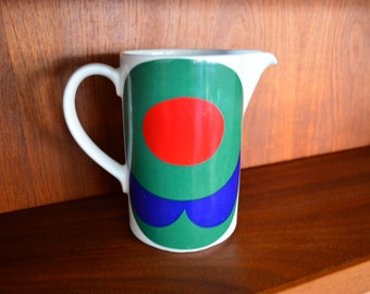 Vintage Arabia Finland Pitcher with Abstract Print