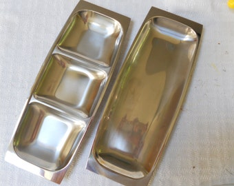 Arthur Salm Stainless Serving Trays