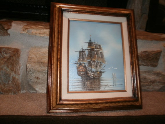 Ship Oil Painting On Canvas By Danny Garcia