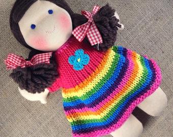 10 inch Rainbow Waldorf doll