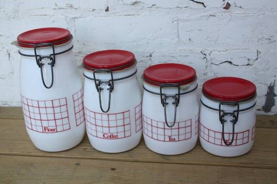 kitchen storage containers vintage wheaton by