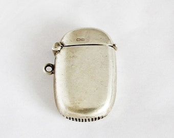 Antique Sterling Silver Vesta Case Match Safe