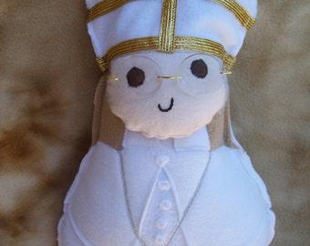Saint Doll Pope Francis Soft Catholic Religious Toy