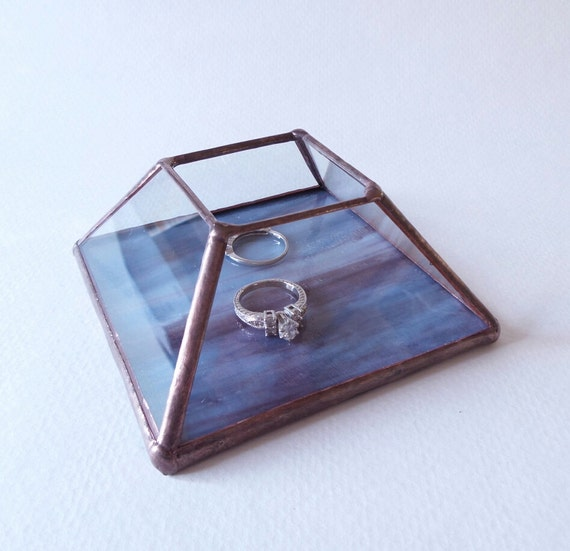 Item 226 Stained Glass Ring Warming Ceremony Box