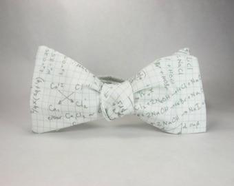 Math bowtie, Graph paper math, teacher bowtie, math teacher gift, mathematician bowtie, equations bowtie, geometry bowtie, mens bowtie