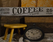 Coffee Kitchen Decor - Coffee Wall Decor - Vintage Signs For Sale