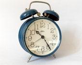 Vintage 1970s Twin Bell Vintage  Alarm clock/Alarm clock / Retro alarm clock /Antique/Prim/Czechoslovakia/Mid century