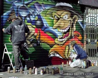 Print, Graffiti, Fantasy Tattoo Shop, Greenwich Village New York City USA, February 2008