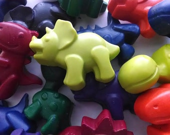 Dinosaur crayons set of 20 - dinosaur party favors, Dino birthday party, baby dinosaur party, easter basket filler, classroom hand outs