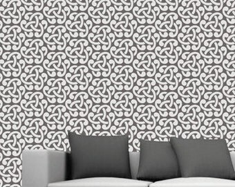 Reusable wall stencils,DIY home decor ,Dhamask wall stencil -15