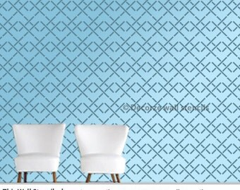 Wall stencil geometric pattern wall stencil design, Reusable wall stencil diy wall décor