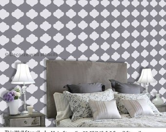 DIY décor wall stencil, Leaf stencil for wall, Homemade design