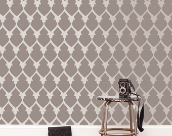 Reusable wall stencil, Stencil for wall paint, Moroccan stencil pattern,GS-03